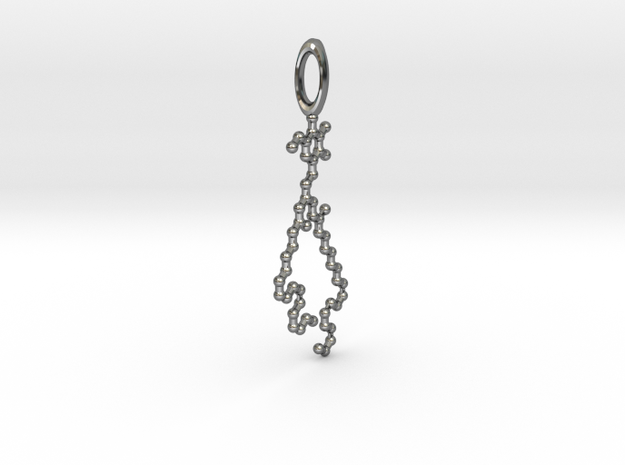MGDG pendant in Fine Detail Polished Silver