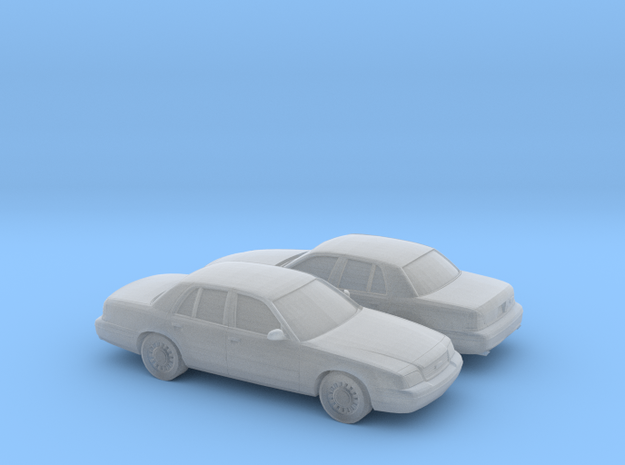 1/148 2X 2003 Ford Crown Victoria in Smooth Fine Detail Plastic