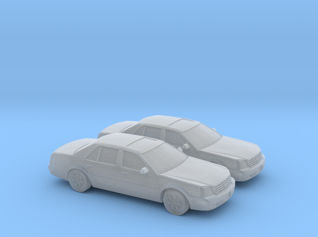 1/148 2X 2000 Cadillac DTS in Smooth Fine Detail Plastic