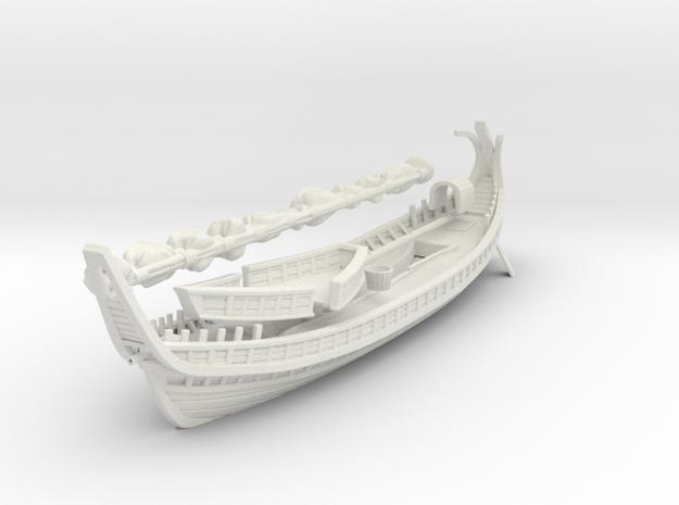 Byzantine Ship final in White Natural Versatile Plastic