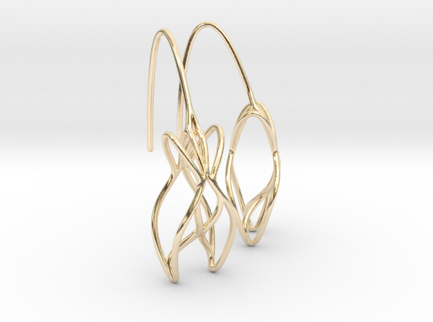 leontine earring pair in 14K Yellow Gold