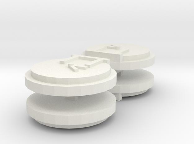 ERTL Bluebell Smokebox Door in White Natural Versatile Plastic: Small
