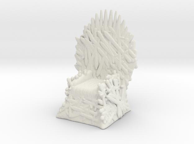 Game Of Thrones Iron Throne 1/60 miniature games in White Natural Versatile Plastic
