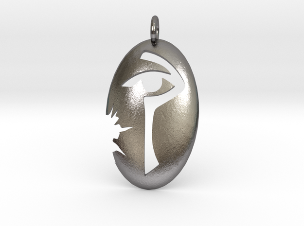 Pendant of Ioun in Polished Nickel Steel