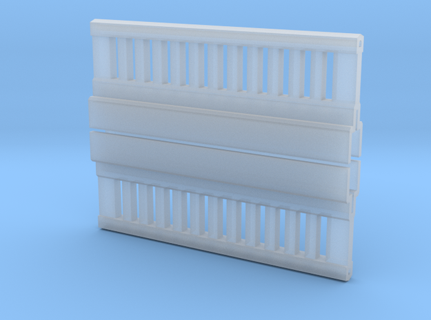 Concrete Railing for 1:64 11 intermediate posts. in Smooth Fine Detail Plastic