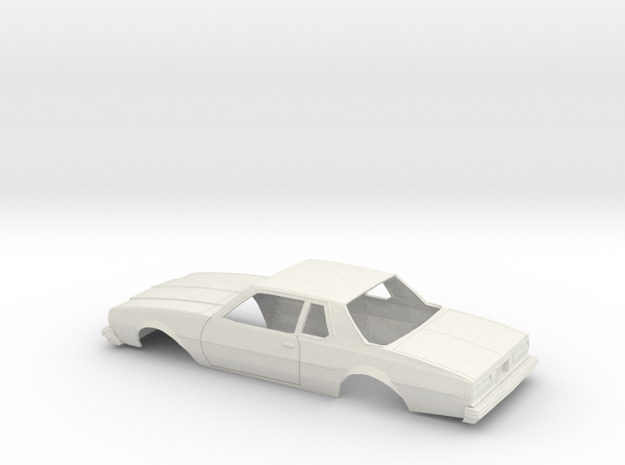 1/25 1977-78 Chevrolet Caprice Coupe Shell in White Natural Versatile Plastic