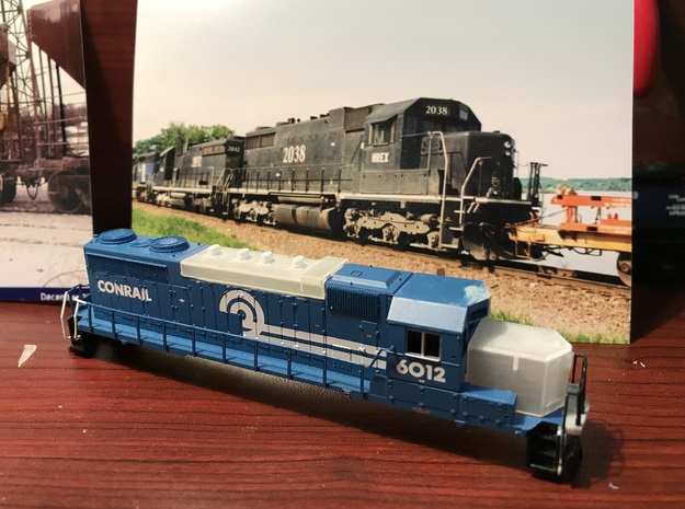 SD20 Conversion Kit for Atlas N Scale SD35 in Smooth Fine Detail Plastic