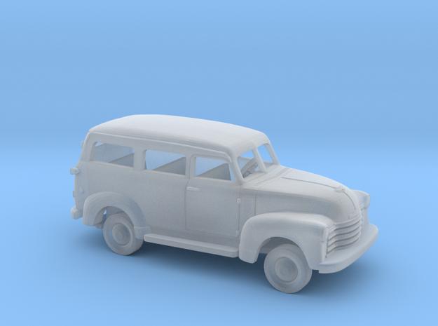 1/160 1947 - 54 Chevrolet Suburban Kit in Smooth Fine Detail Plastic