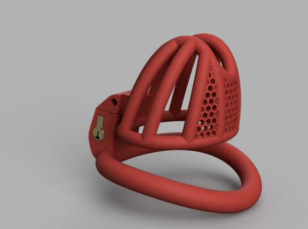 Cherry Keeper Small Wide with TouchStop in Red Processed Versatile Plastic: Extra Small