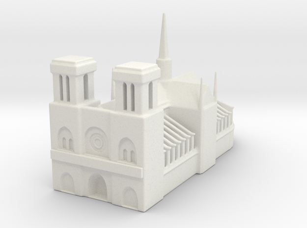 Notre Dame de Paris 1/1200 in White Natural Versatile Plastic