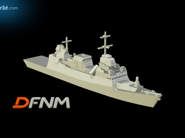 Eilat Class Corvette in White Natural Versatile Plastic: 1:700
