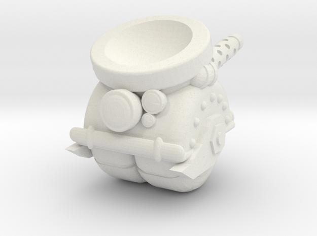 Space Orks MotorHedz Wheel Legs Type 01 in White Natural Versatile Plastic
