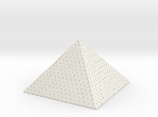 Louvre Pyramid 1/1000 in White Natural Versatile Plastic