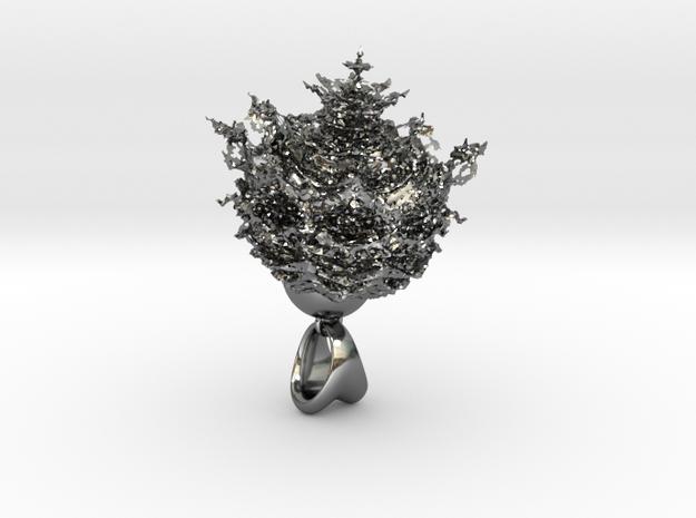 FRACTAL FRAGMENT in Fine Detail Polished Silver