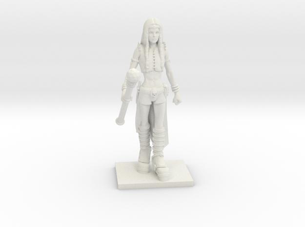 Fantasy Figures 07 - Sorcerer in White Natural Versatile Plastic
