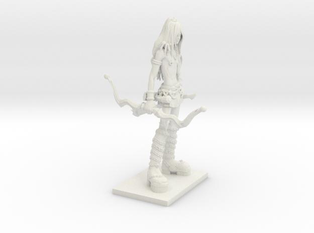 Fantasy Figures 14 - Ranger in White Natural Versatile Plastic