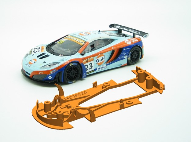 PSSX00204 Chassis Scalextric McLaren MP4-12 in White Natural Versatile Plastic