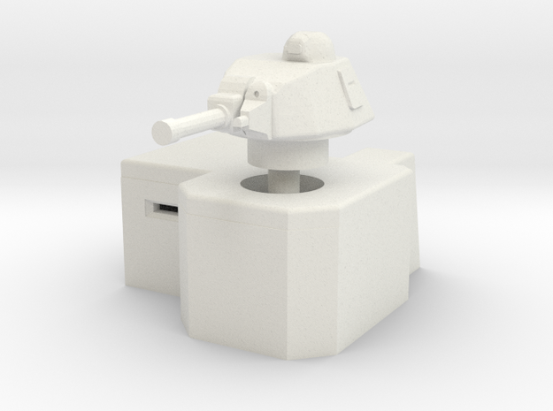 Bunker with Somua S35 turret 1/120 in White Natural Versatile Plastic