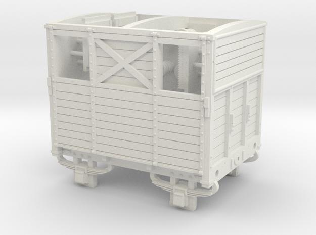 SER/LBSCR Horse Box Dia. 19B - OO Scale in White Natural Versatile Plastic