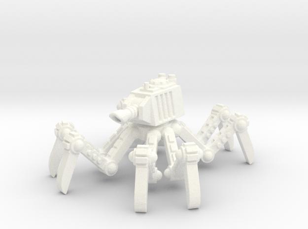 6mm - Spider tank in White Processed Versatile Plastic