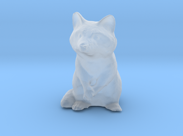 Raccoon Miniature (28mm Scale) without Base Plate in Smooth Fine Detail Plastic