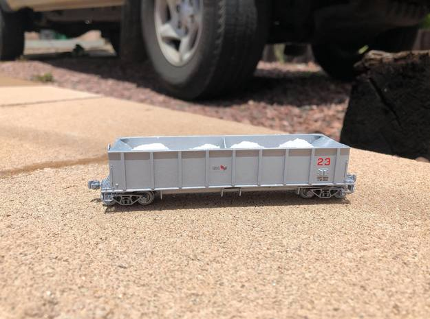 HOn3 USG Trinity Hopper Car Body in Smooth Fine Detail Plastic