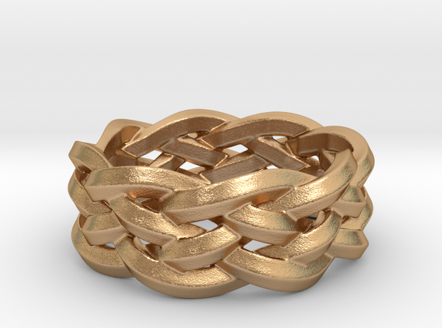 Five-Strand Braid Ring in Natural Bronze