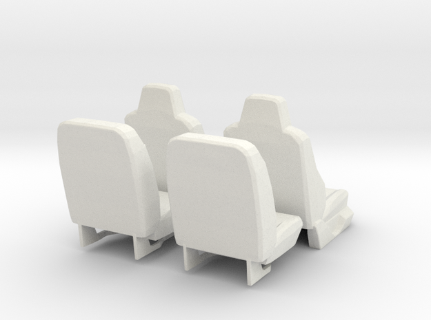 All seats 1/10 Ford Excursion F-Series in White Natural Versatile Plastic