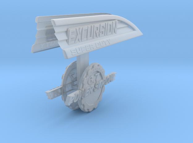 1/10 Ford Excursion Emblem Set Fenders in Smoothest Fine Detail Plastic