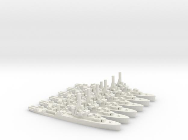 Australian River-class Frigate (x6) in White Natural Versatile Plastic