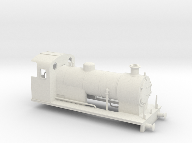 O-16.5 Maunsell 0-6-0 1 in White Natural Versatile Plastic