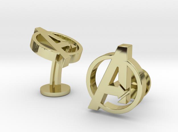 Avengers Cufflinks in 18k Gold Plated Brass