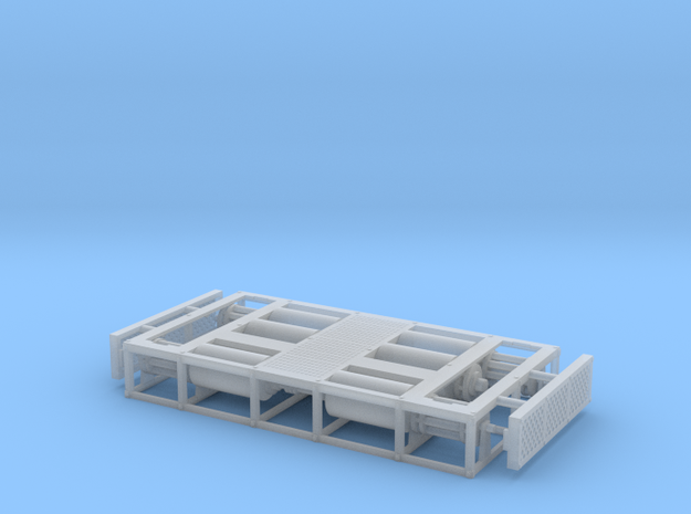 1/64th Dynamometer Dyno chassis test platform in Smooth Fine Detail Plastic