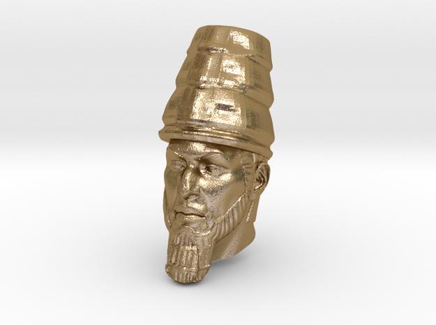 Daniel 2 Statue - Babylonian Head of Gold in Polished Gold Steel