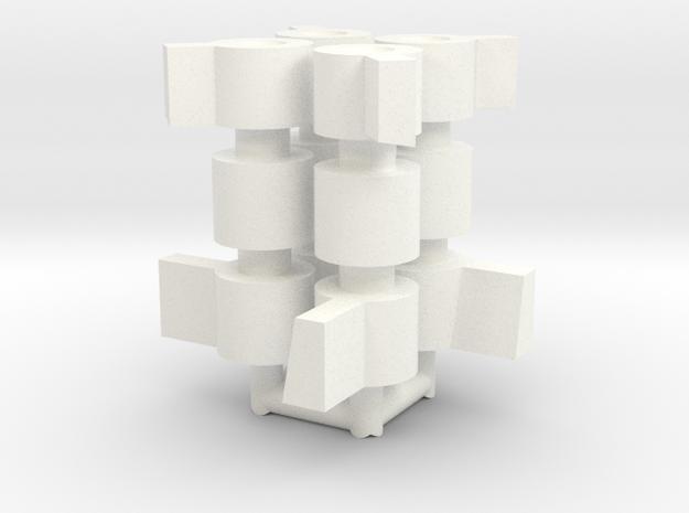 "Cherry Keeper ""Permalocker"" (Qty:4) in White Processed Versatile Plastic"