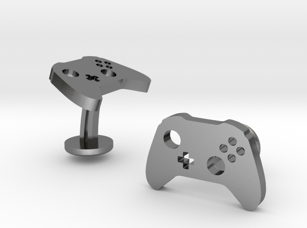 Xbox Controller Cufflinks in Polished Silver