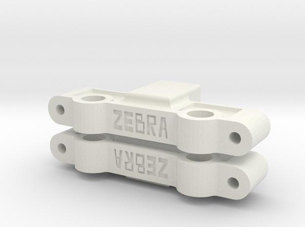 Team Associated TC4 Steering Rack in White Natural Versatile Plastic