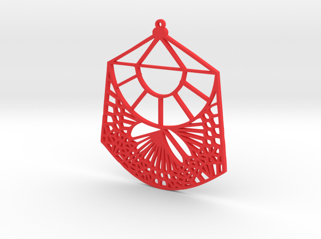 Fawn Qiu Voronoi Pattern (001d) in Red Processed Versatile Plastic