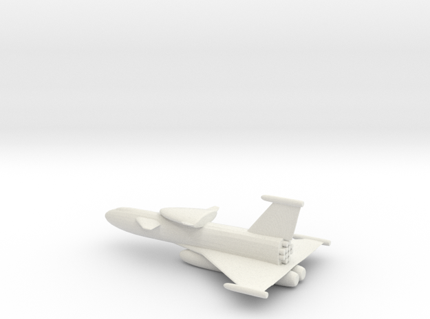 Fantasy Two Stage Space Shuttle in White Natural Versatile Plastic
