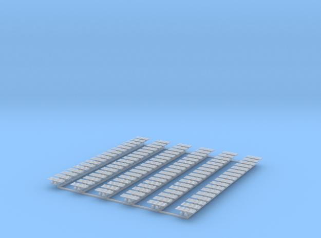 Kette 3 steg 12mm Breite, Turasinnebreite 2mm in Smooth Fine Detail Plastic