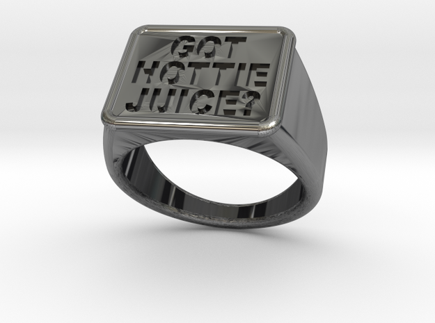 Got Hottie Juice? Ring in Antique Silver