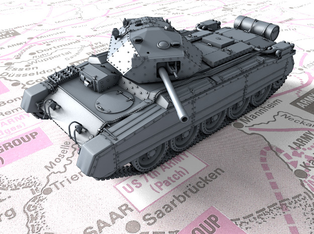 1/144 British Crusader Mk III Medium Tank in Smooth Fine Detail Plastic