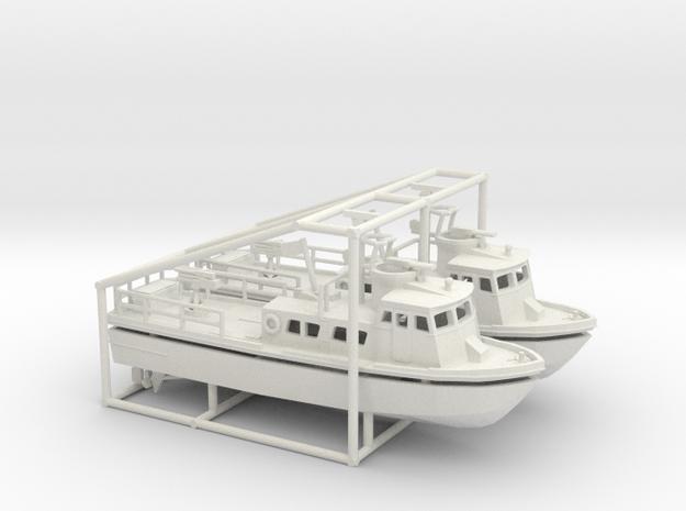 2 X 1/200 PCF Swift Boat in White Natural Versatile Plastic