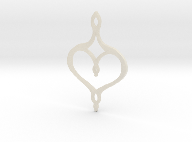 :Perfect Valentine: Pendant in White Acrylic