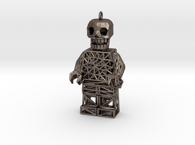 Los Muertos Lego Man Solid Head in Stainless Steel