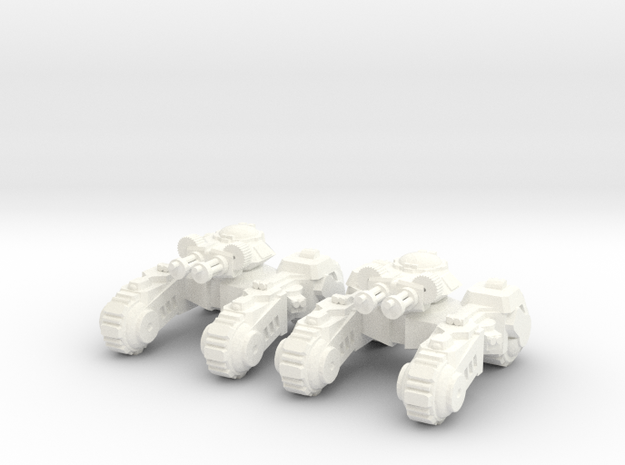 6mm - Anti Infantry Spine Tank in White Processed Versatile Plastic
