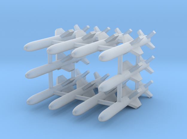 AGM-84A Harpoon Missile 10-Individual in Smooth Fine Detail Plastic