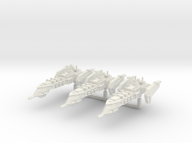 Typhoon Class Frigate squadron in White Natural Versatile Plastic