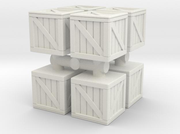 Wood crate prop (x8) 1/100 in White Natural Versatile Plastic