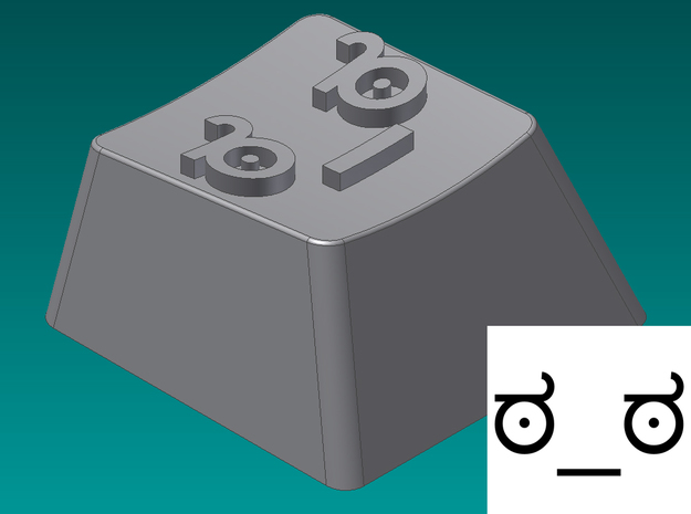 Look of Disapproval Keycap (R2, 1x1)